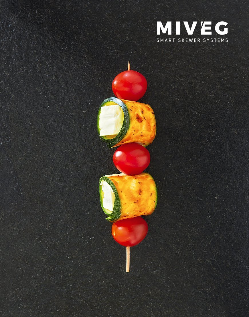 Miveg Skewer Systems · Gemüsespieß · Vegetable Skewer
