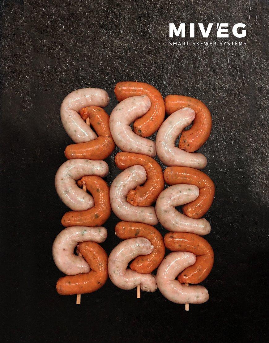 Miveg Skewer Systems · Bratwurstspieß · Sausage Skewer