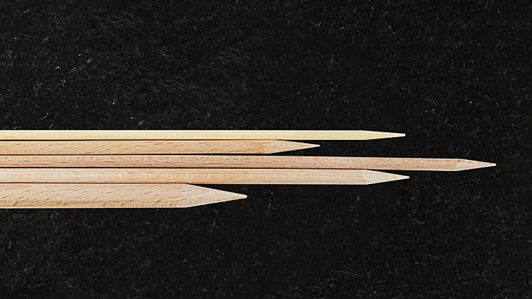 Buchenholzspieße · Beech wood skewers · MIVEG