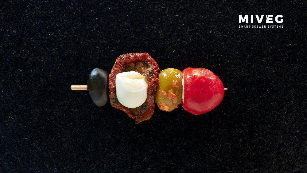Miveg Skewer Systems · Antipastispieß · Antipasti skewer
