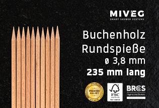 Buchenholzspieß · Rundspieß · Grillfackelspieß · Fackelspieß · Räuberspieß · schwere Spieße