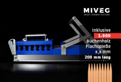 Stick System 480 · Buchenholzspiesse · Flachspiesse · Miveg Smart Skewer Systems