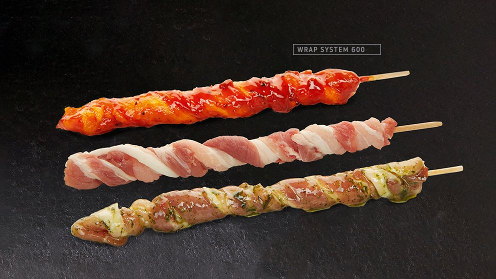Miveg Skewer Systems · Fackelspieß · Bacon Grill Sticks