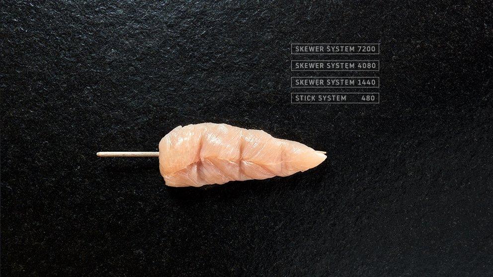 Miveg Skewer Systems · Hähnchenspieß · Chicken Skewer