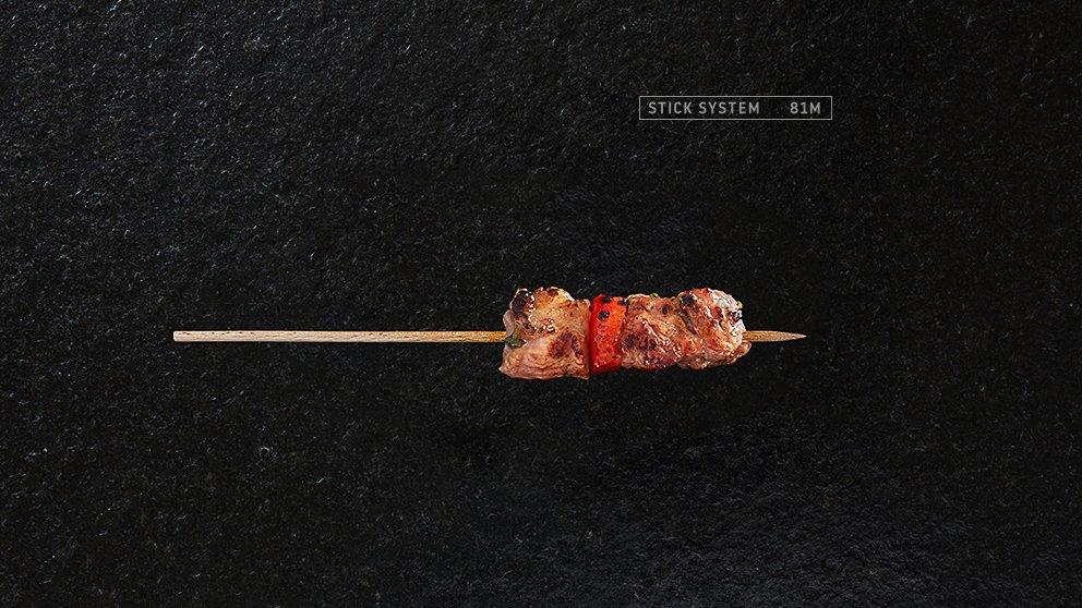 Miveg Skewer Systems · Minispieß Fleisch Paprika · Mini skewer meat paprika