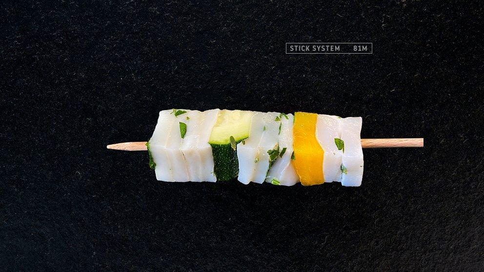 Miveg Skewer Systems · Pulpo Mini Spieß · Octopus mini skewer