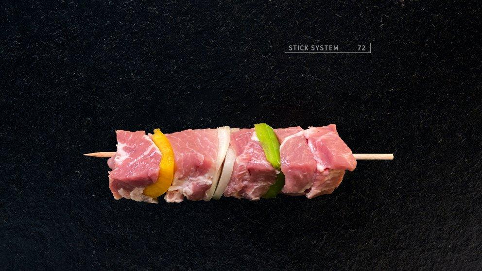 Miveg Skewer Systems · Schwein Paprika Zwiebel Spieß · Shashlik