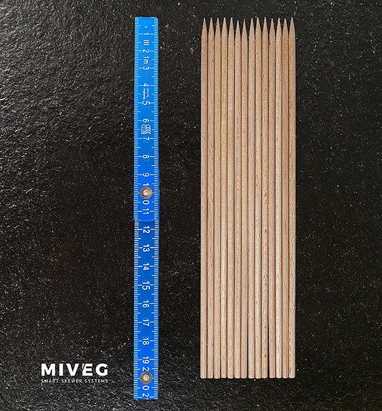 Miveg · Smarkt Skewer Systems · Buchenholzspieße · Beech wooden skewers