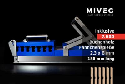 MIVEG · Buchenholzspieß · Fähnchenspieß