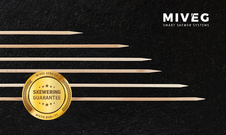 MIVEG Skewer Systems · Skewer Machines · Skewering Guarantee