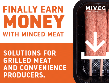 MIVEG Skewer Systems · Finally earn money with minced meat